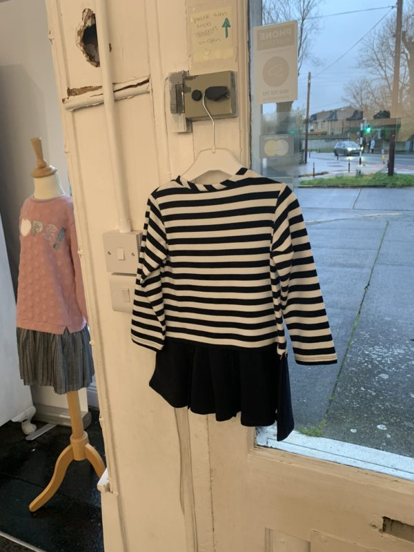 Mayoral navy dress with stripes 2