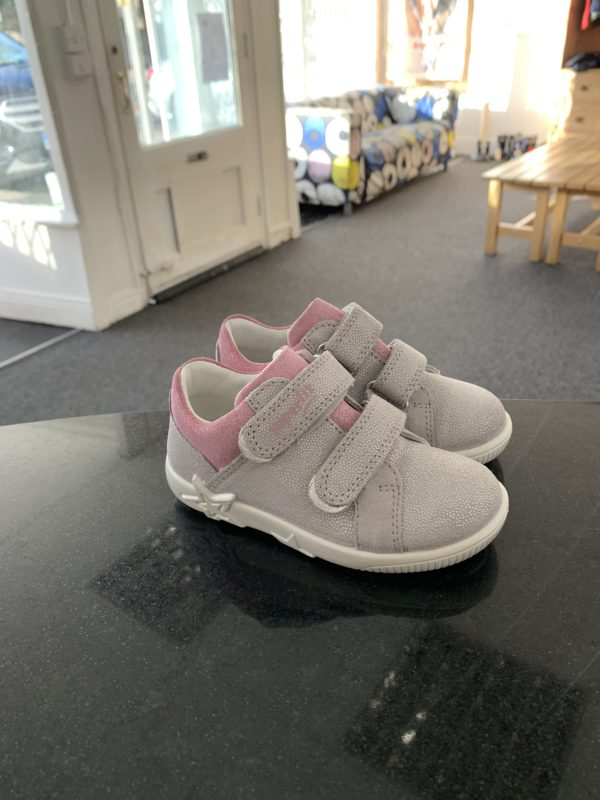 Superfit Shoe / Runner in silver leather 1